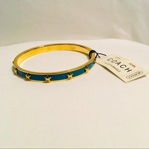 Coach | Blue and Gold 1/4 Star Bangle